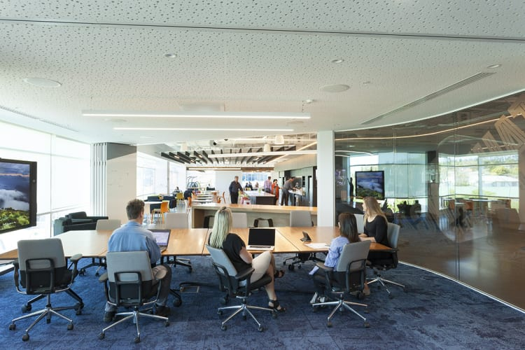 Spatial organisation and a stripped back ergonomic efficiency underpin new office design