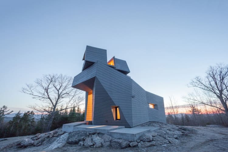 The observatory sits atop a granite outcropping