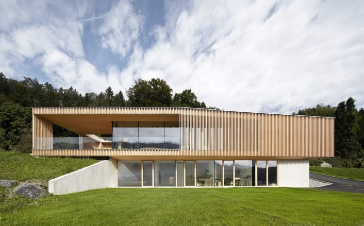 This home has a solid foundation, having been built into a rock
