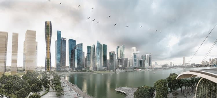 Say goodbye to concrete and steel – this tower will be constructed out of timber