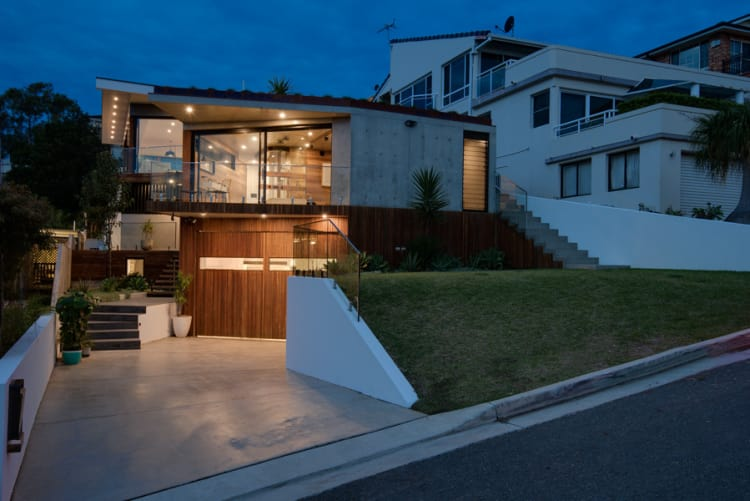 Yes, the home sits quite low from the street, but this has no impact on the light or views