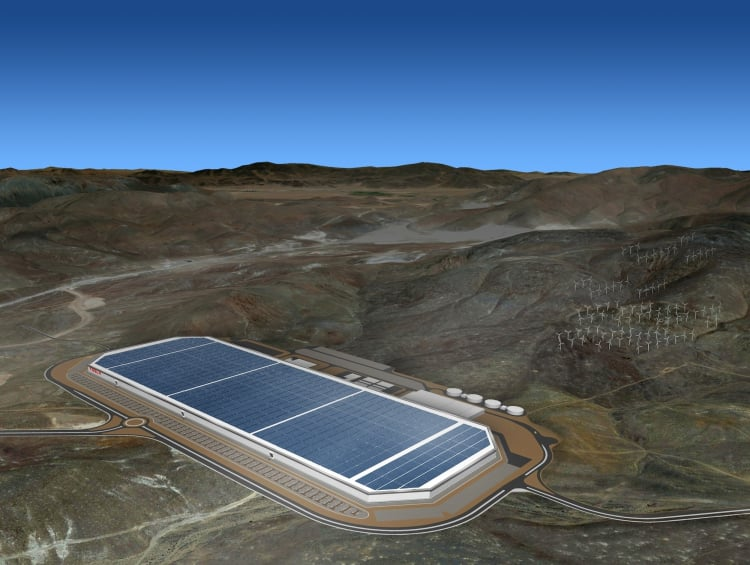 A concept render for the finished Gigafactory