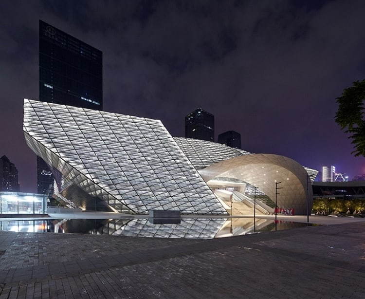 Like a beacon in the night, this art centre stands out thanks to fantastic lighting design