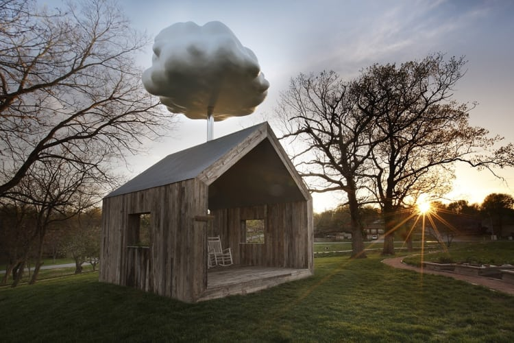 CLOUD HOUSE is a rain harvesting system that creatively reuses the rainwater it collects