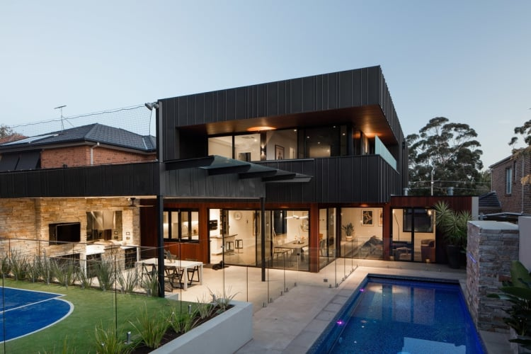 This is the perfect home for entertaining, with a pool, outdoor entertainment area and a court