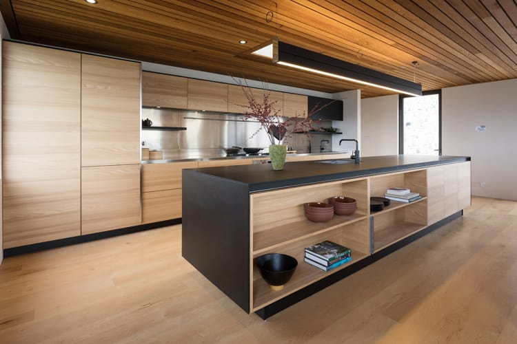 Sleek new kitchen has both a clean-lined design and an organic feel