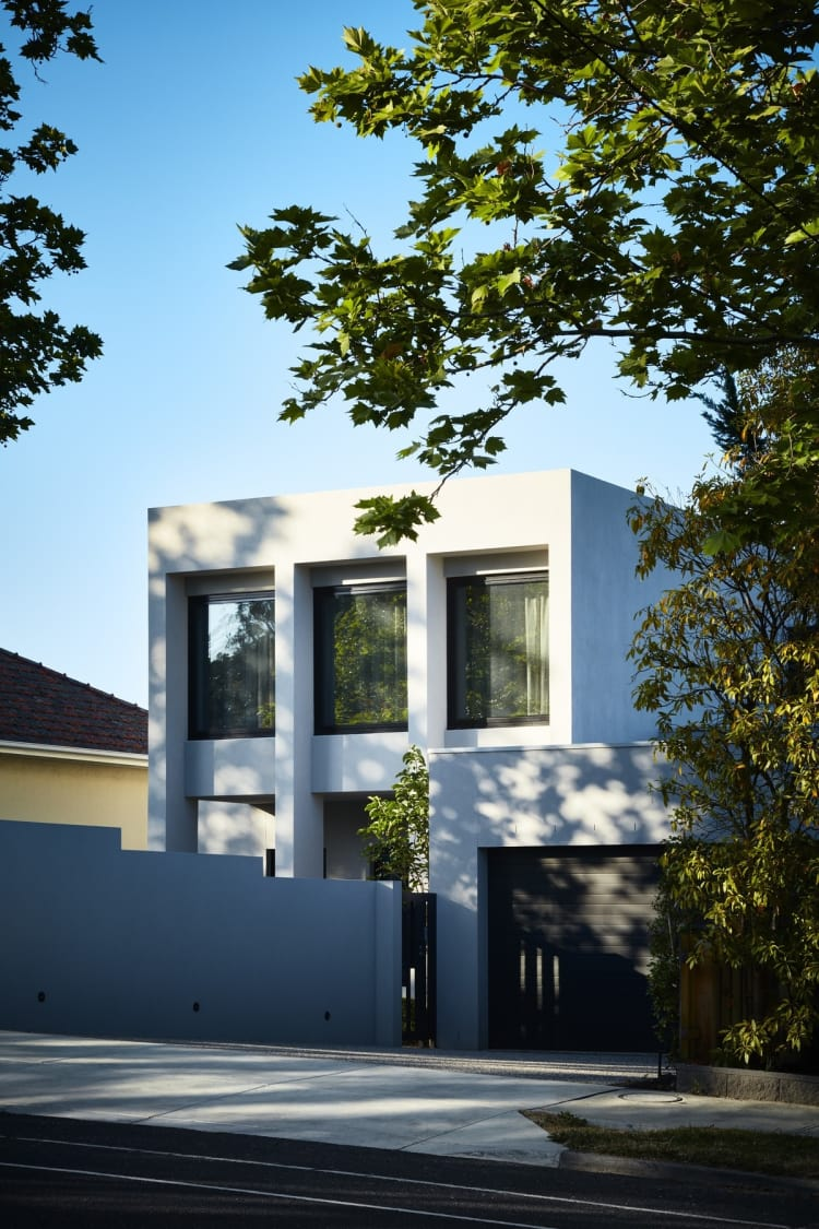 The home is situated on a leafy street in Melbourne's suburbs