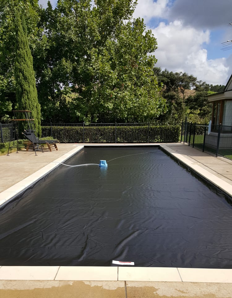 Swimming pool cover has many plusses
