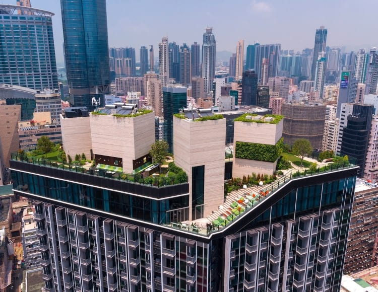 Skypark also provides an escape from the city with its communal clubhouse and outside park