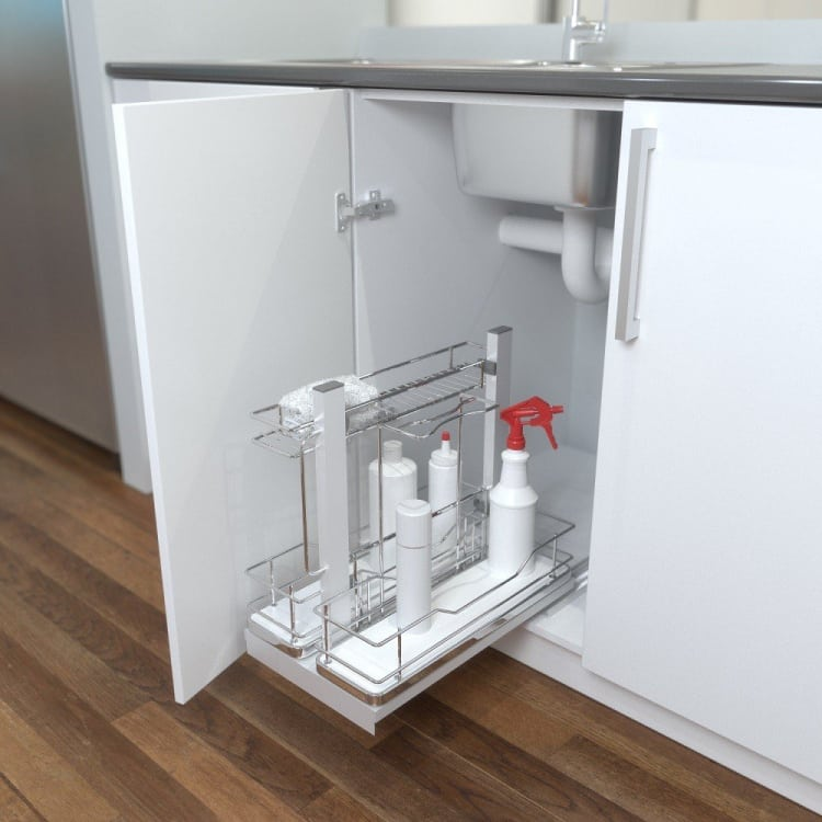 Clean Up! Great Idea for Storing Cleaning Products from Giamo