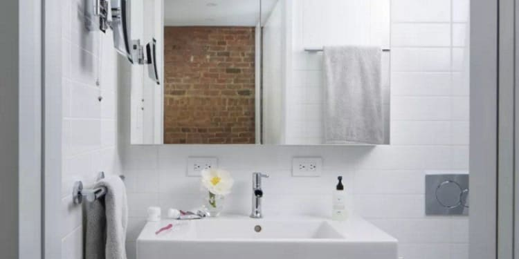 A collection of small bathrooms