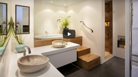 NKBA award winning bathroom and meditation space by Leonie Von Sturmer