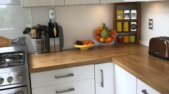 Warm your kitchen with a European Oak benchtop