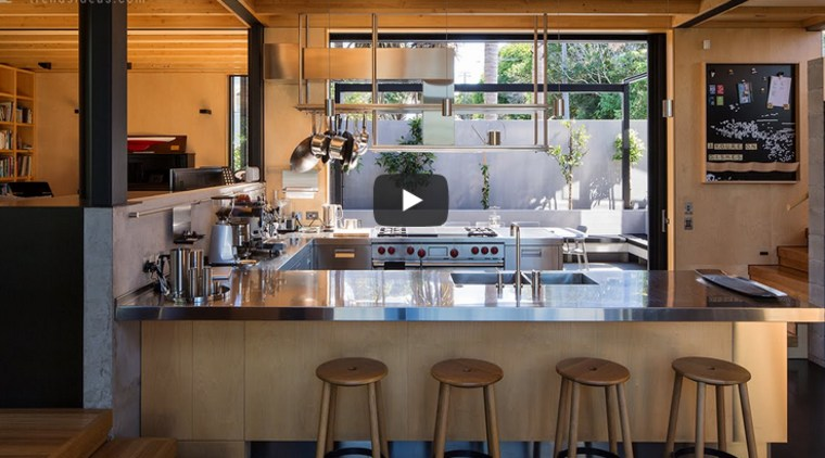 Award winning U shape kitchen with stainless steel countertops and cabinets