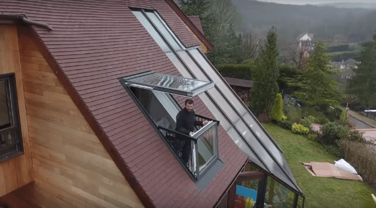 Window transforms into a balcony