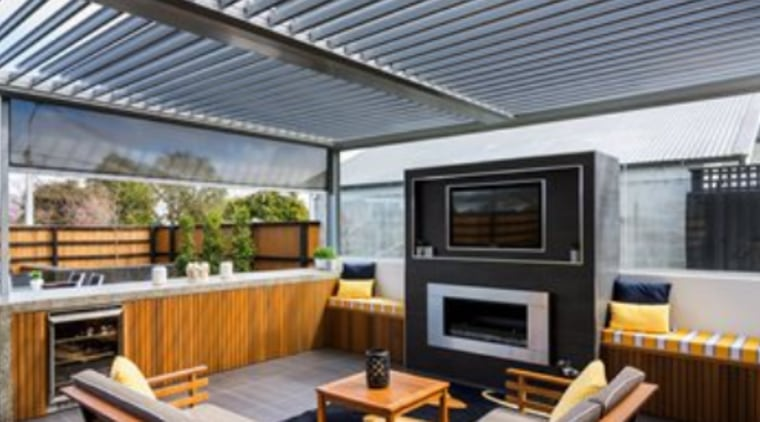 SkyLouvre Concertina is  New Zealand's first retractable roof louvre