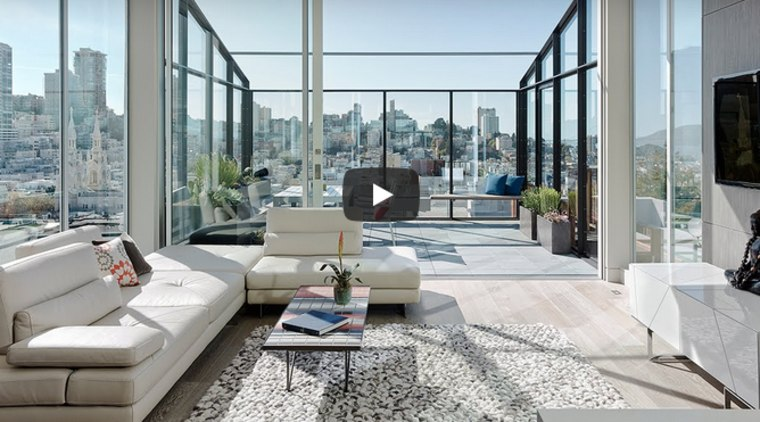 San Francisco row house remodel opens up a loft-style living area