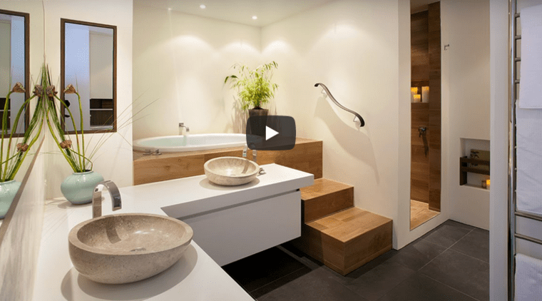 NKBA award winning bathroom and meditation space by Leonie Von Sturmer