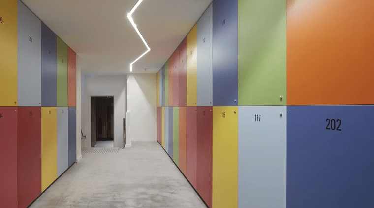Quirky and colourful apartment block