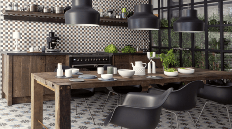Bring life to your kitchen with patterned tiles