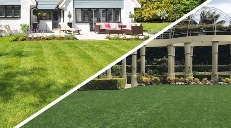 Ever considered the benefits of an artificial lawn? cottage, estate, farmhouse, flower, garden, grass, home, house, lawn, plant, property, real estate, shrub, yard, brown