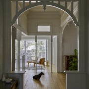 Classic mouldings were retained while contemporary versions also