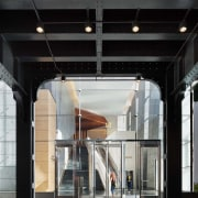 Entry to 10 Hudson Yards – one of architecture, building, ceiling, door, black, gray