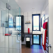 The view of a bathroom - The view bathroom, interior design, real estate, room, gray