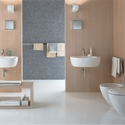 The view of a bathroom - The view bathroom, bathroom accessory, bathroom cabinet, bathroom sink, bidet, ceramic, floor, interior design, plumbing fixture, product, product design, room, sink, tap, tile, toilet, toilet seat, wall, gray