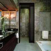 A good overall view of this natural bathroom architecture, bathroom, interior design, room, black, gray