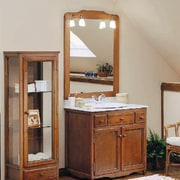 View of this bathroom's cabinetry - View of bathroom, bathroom accessory, bathroom cabinet, cabinetry, chest of drawers, furniture, product, room, gray, brown