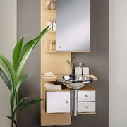 A simple & effective Bathroom - A simple bathroom, bathroom accessory, bathroom cabinet, interior design, product design, shelf, sink, tap, gray