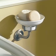 Close-up view of the soap dish - Close-up plumbing fixture, product design, tap, toilet seat, brown