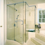The bathroom shower - The bathroom shower - angle, bathroom, door, glass, plumbing fixture, shower, shower door, yellow, green