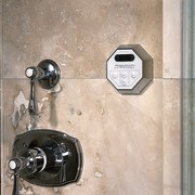 View of the Steamist water temperature remote - product design, wall, gray