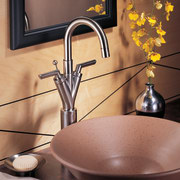 A V-shape faucet - A V-shape faucet - ceramic, cookware and bakeware, countertop, plumbing fixture, product design, sink, tap, red