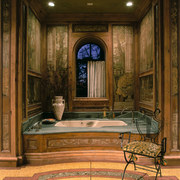 View of the bathtub - View of the ceiling, door, estate, furniture, interior design, lobby, room, wall, window, brown