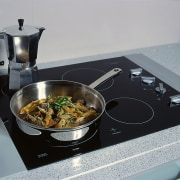 close up of the oven area - close cookware and bakeware, cuisine, dish, gray, black