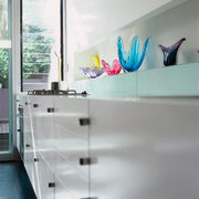 The detail of kitchen cabinetry in an urban furniture, interior design, product design, room, table, wall, gray