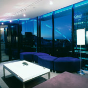 View of the games room - View of architecture, ceiling, glass, interior design, lighting, black