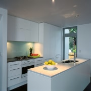 Inner view of the kitchen - Inner view cabinetry, ceiling, countertop, interior design, kitchen, gray