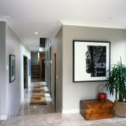 View of the entrance way - View of ceiling, floor, home, house, interior design, living room, wall, gray