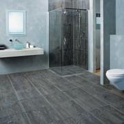 The view of a bathroom - The view bathroom, floor, flooring, interior design, laminate flooring, room, tile, wall, wood flooring, gray