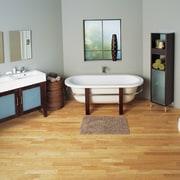 The view of a bathroom featuring a shower, bathroom, floor, flooring, furniture, hardwood, interior design, laminate flooring, product, room, tile, wood, wood flooring, gray