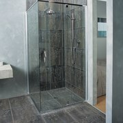 The detail of a shower - The detail glass, plumbing fixture, shower, gray
