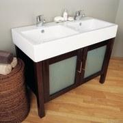 The detail of a dual basin - The bathroom, bathroom accessory, bathroom cabinet, bathroom sink, floor, flooring, furniture, hardwood, plumbing fixture, product, product design, room, sink, white