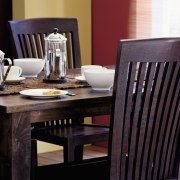 View of the dining furniture - View of chair, dining room, furniture, home, table, wood, black
