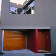 The entrance way of a house - The architecture, building, daylighting, door, facade, home, house, wall, window, gray