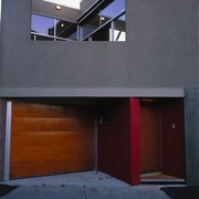 The entrance way to a house - The architecture, building, daylighting, door, facade, home, house, window, wood, gray, blue