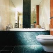 view of the jade green marble tiles anda architecture, bathroom, floor, flooring, interior design, room, tile, wall, orange, black